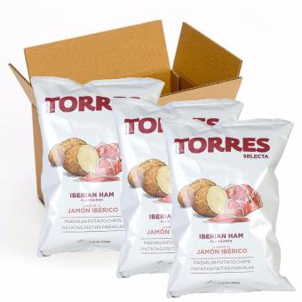 Harga Torres Selecta Iberian Ham Potato Chips - 150g (Pack of 3)