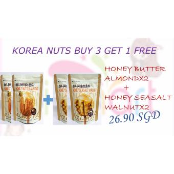 Harga COMBO PACK HONEY BUTTER ALMOND+ HONEY SEASALT WALNUT