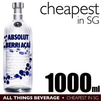Harga Absoult Berri Acai Blueberry Vodka 1000ml (Cheapest in SG)