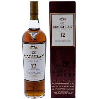 Harga Macallan 12 YO Sherry Oak 75CL Alc 43%Vol