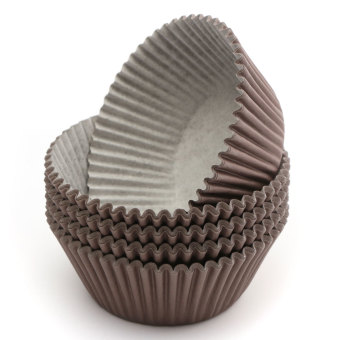 Harga 100pcs Cake Cupcake Liner Case Wrapper Muffin Dessert Baking Cup Wedding Party Brown (EXPORT) - Intl