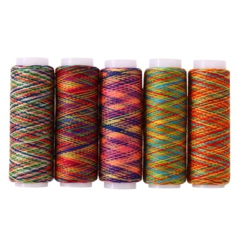 5pcs Rainbow Color Sewing Thread Hand Quilting Embroidery Sewing Thread - intl