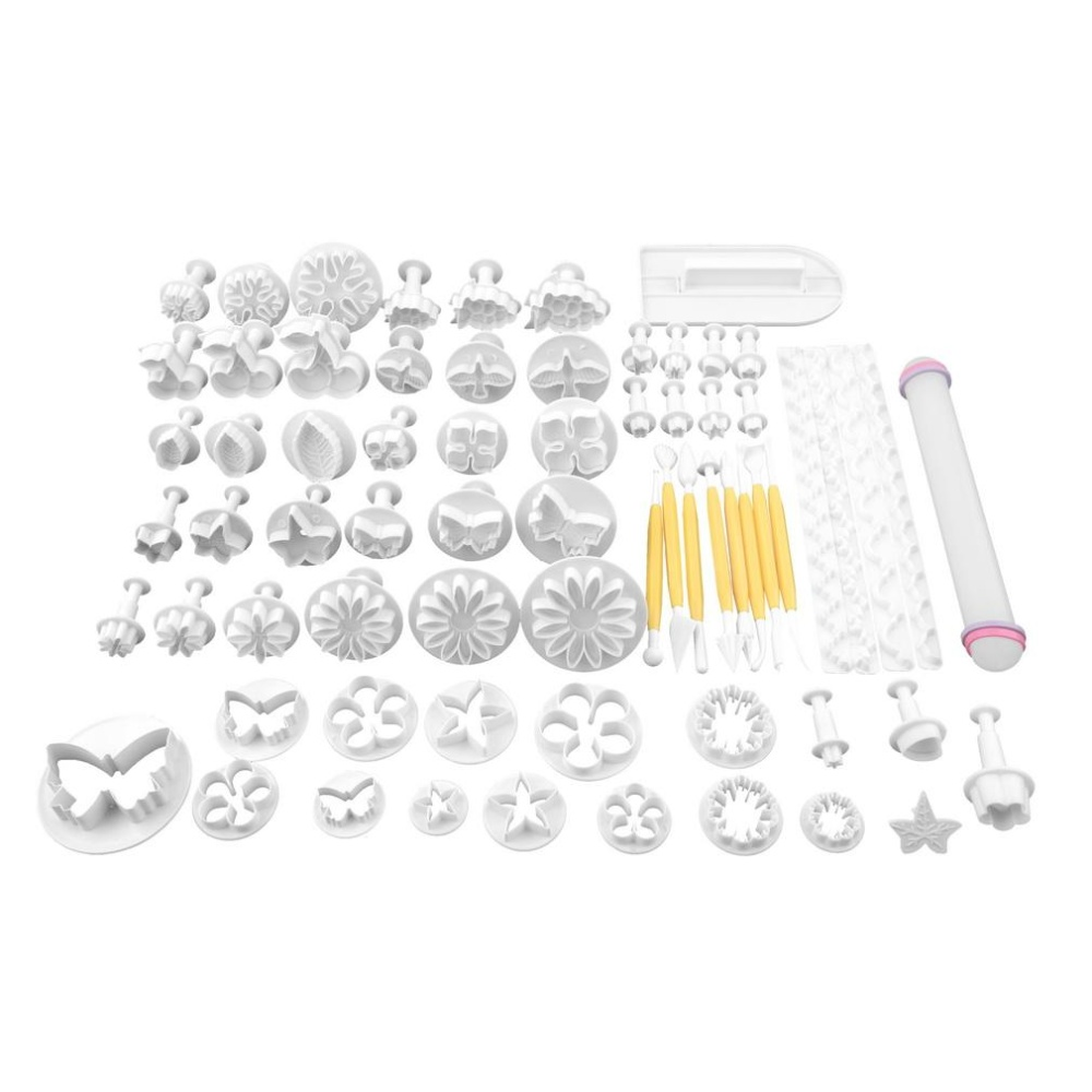 68Pcs Fondant Cake Decorating Sugar craft Plunger Tools CookiesMold Mould