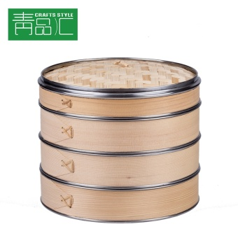 Bamboo steamer stainless steel commercial bamboo longti steel ringreinforcement home size steam grid steamed buns steamed bamboosteamer