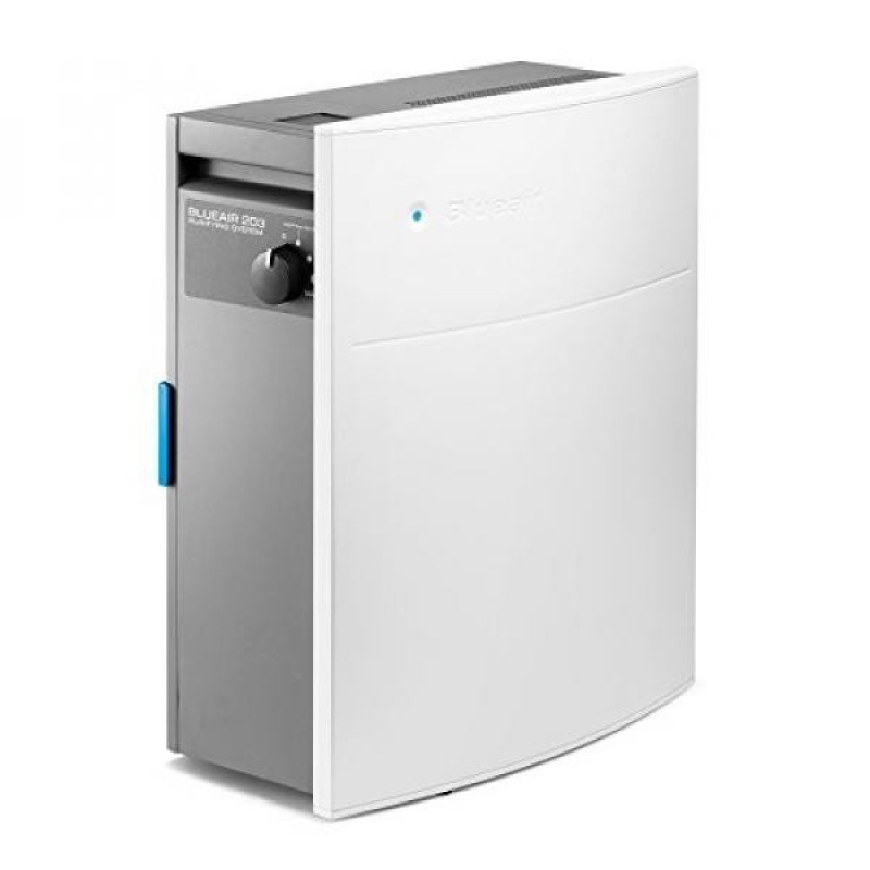 Blueair Classic lim HepaSilent Air-Purification System, Allergy and Dust Reducer, Rooms 237 sq. ft., White - intl Singapore