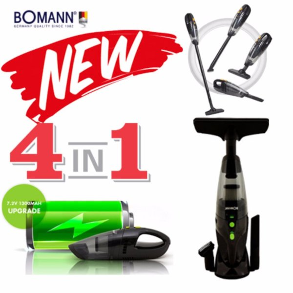 [BOMANN] 2017 NEW 4in1 Cordless vacuum Cleaner VC7211 / Tornado power suction / HEPA Filter - intl Singapore