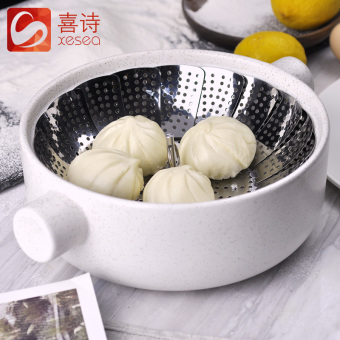 Creative magic stainless steel steamer steam grid steamed steamer steaming rack steaming plate bread pad home steamed rack buns folding