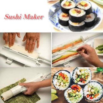 Sushi Bazooka Tool Sushi Roll Maker Kitchen Appliance Gourmet Cooking Tube(White)