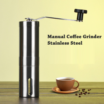 Harga Manual Coffee Grinder Precision Brewing Brushed Stainless Steel Conical Burr Grinder Home Kitchen Grinding Tool