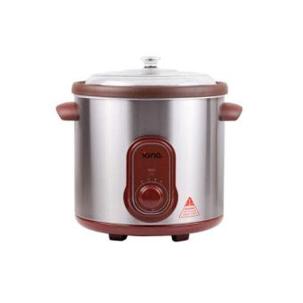 Harga Iona GLSC850 8.5L Purple Clay Auto Slow Cooker with Double Boiler