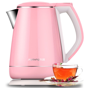 Harga Joyoung K15-F623 Eectric Kettle to Boil Water off Automatically Double 304 Stainless Steel (Pink) - intl