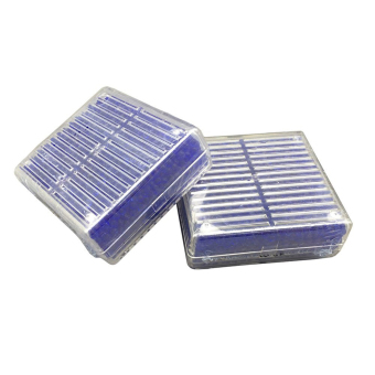 Harga 2Pcs Reusable Silica Gel Desiccant Dehumidifier Moisture Absorb Beads Box (Blue) - intl