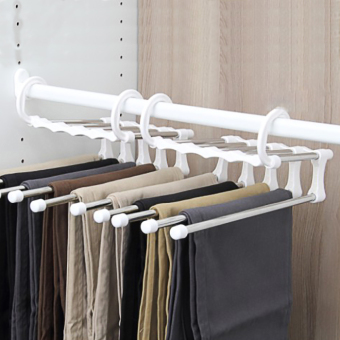 Harga Nachuan export dress boutique magic pants hanger a0115/multilayer trouser/pants hanger closet/pants hanger clip