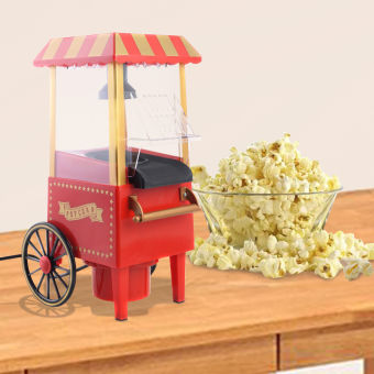 Harga Mini Hot Air Pop Corn Maker Cart Popper Machine Tabletop Vintage Home Movie Red