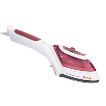 Harga Tefal 2in1 Handy Steam iron DV8610 eletric iron handheld potable iron eletric iron portable steamer (Red)