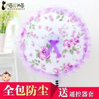 Harga Korean fan cover circle fan cover floor fan cover fan cover fan cover dust cover all inclusive shipping