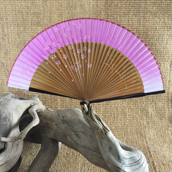 Harga Hot flower pink cherry silk japanese silk fan japanese edo japanese female women wind fan