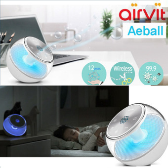 Harga Airvita Aeball Wireless Air Purifier with Anion for Home and Car - White - intl