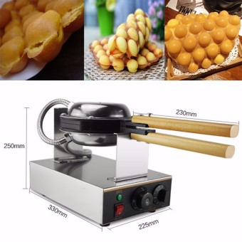 Harga Stainless Steel Electric Egg cake oven QQ Egg Waffle Maker machine new 110/220v - intl