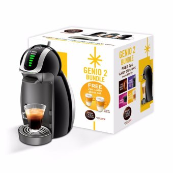 Harga NESCAFÉ® Dolce Gusto® Bundle coffee machine Genio 2 and glass set (Limited edition pack)