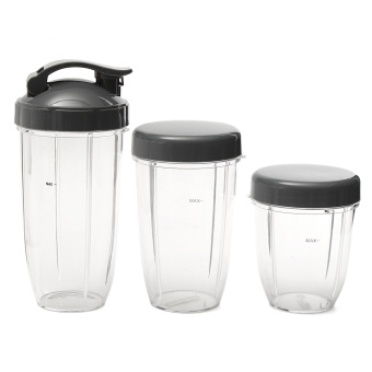 Harga 3Pcs 18/24/32 OZ Juicer Blender Cup Mug w/ Lips For Nutribullet Nutri Bullet - intl