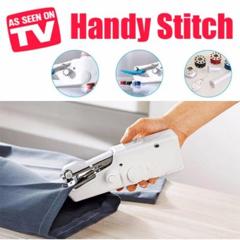 Harga As Seen On TV Handy Stitch Handheld Sewing Machine/ Mini Sewing Machine/ Compact size/ Sewing/ Mini Portable Home Use Sewing Machine/ Easy To Use/ Sew Affordable/ DIY Sew Machine - intl