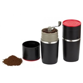 Infinite Coffees Grind and Brew Master - Manual Coffee Grinder andBonus Portable Coffee Brewer - Unique Manual Ceramic Burr CoffeeGrinder that Can Also Brew   - intl