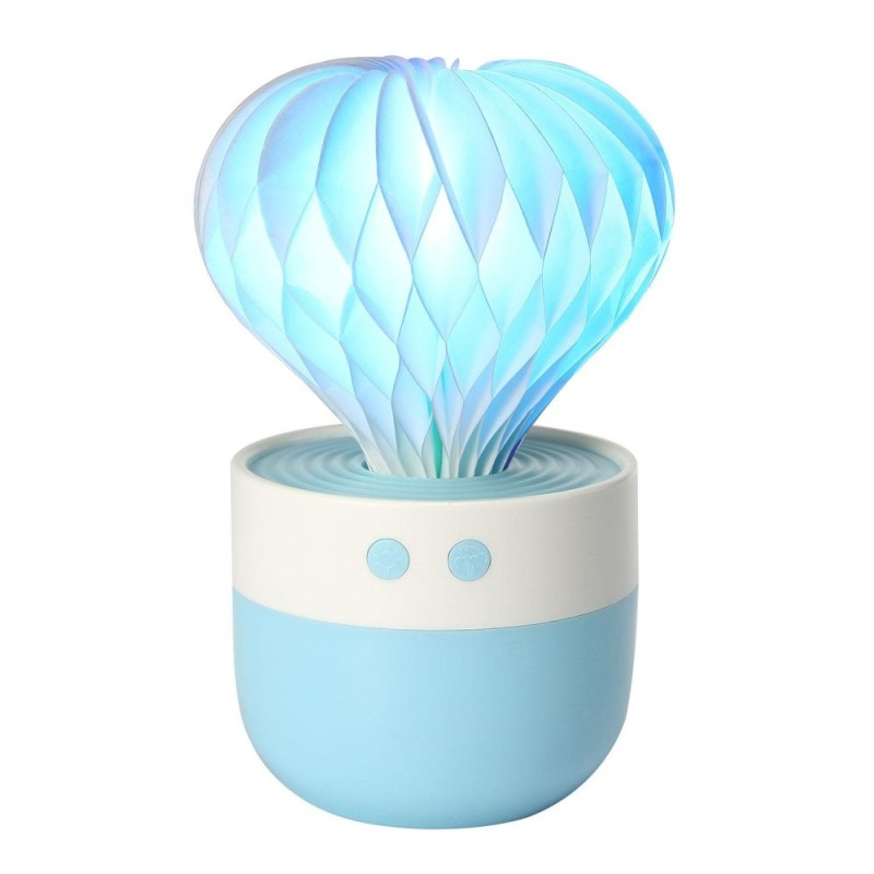 leegoal Cool Mist Humidifier, Mini Portable 7 Color LED Lights, Auto Shut-off For Home Bedroom Baby Room Office (Blue) - intl Singapore