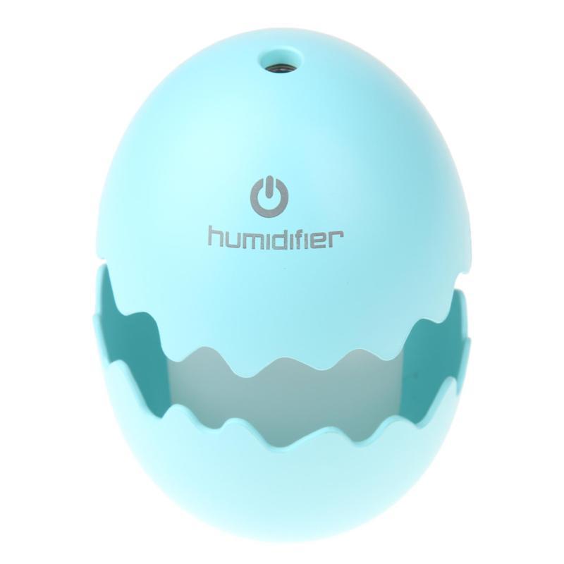 Mini USB Egg Ultrasonic Humidifier LED Night Light for Home Office (Blue) - intl Singapore