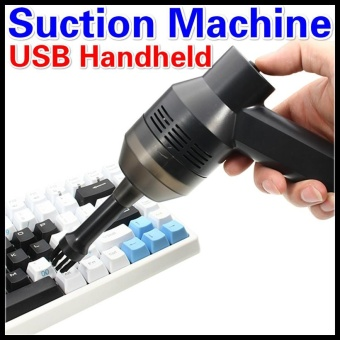 Mini USB Vacuum Cleaner Portable Computer Keyboard Brush Nozzle Dust Collector Handheld Sucker Clean Kit for Cleaning Laptop PC USB Handheld Suction Machine - intl