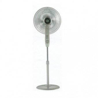 """Mistral 16"""" stand fan with timer / light grey"""