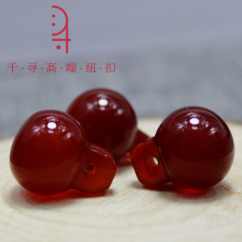 Harga Natural gemstone buttons Red agate beads hand-stitched bucklehigh-grade dress costume Han Chinese clothing national dress platebuttons buckle head