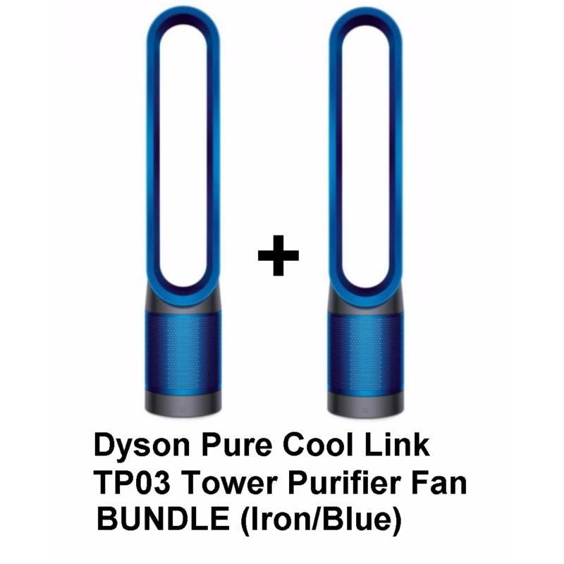 [NEW RELEASE] Dyson Pure Cool Link TP03 Tower Purifier Fan Bundle (Iron/Blue) Singapore