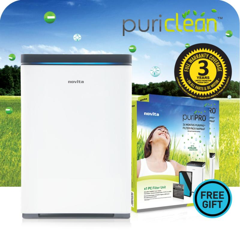 novita PuriClean™ Air Purifier NAP866 + FOC 2 x Filter Pack & 3 Years Full Warranty Singapore