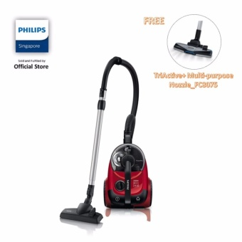 Harga Philips FC8760/61 PowerPro Bagless Vacuum Cleaner, Power Cyclone 5 2000W - Black/Red