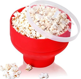 Harga Popcorn Bucket Microwaveable Popcorn Maker Foldable Pop Corn (Red)- intl