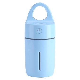 Portable Car Home USB Colorful Night Light Cup Shape Humidifier AirDiffuser Mist Maker (Blue) - intl - 3