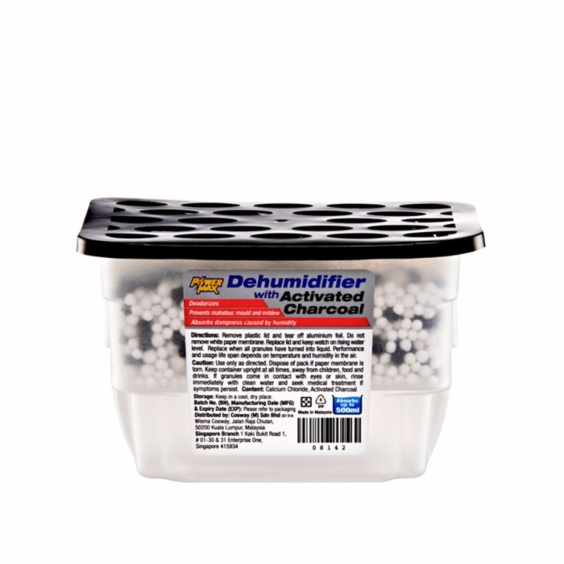 PowerMax Dehumidifier – Charcoal (3x500ml) - 2 packs = 6 Singapore