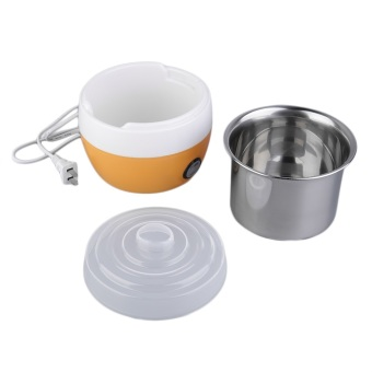 Stainless Steel Automatic Yogurt Maker DIY Delicious YoghurtContainer (Orange)