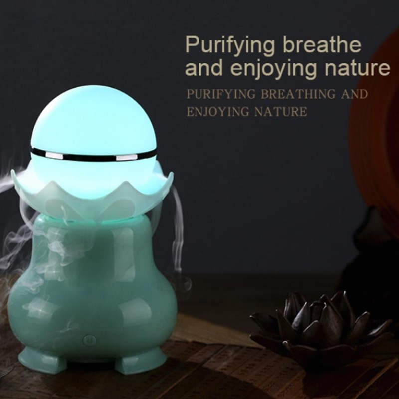 svoovs USB Ultrasonic Aroma Humidifier Colorful LED Lights Home Air Diffuser Purifier - intl Singapore