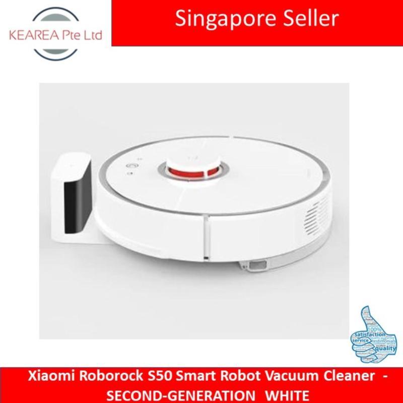 Xiaomi Roborock S50 Smart Robot Vacuum Cleaner  -  SECOND-GENERATION  WHITE Singapore