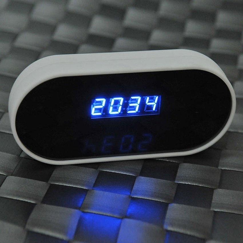 1080P HD Wireless Wifi IP Spy Hidden Camera DVR in Clock (White) - intl