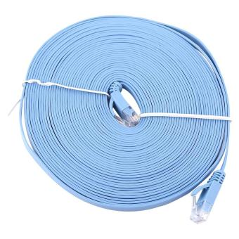 Harga 10M RJ45 CAT6 Ethernet Flat LAN Cable UTP Router Cables 1000M - intl