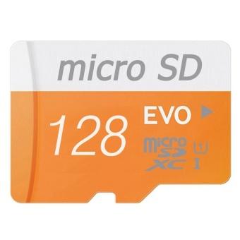 128GB Class 10 Micro memory SD Card with Adaptor (Orange) - intl
