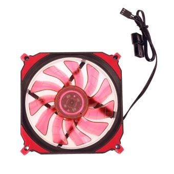 Harga 12cm 120mm 3Pin 4Pin PC Computer LED Cooling Brushless Fan(Red) -intl