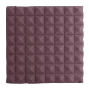 Harga 1pcs Acoustic Soundproof Foam Sound Stop Absorption Pyramid Recording Studio Foam Purple - intl