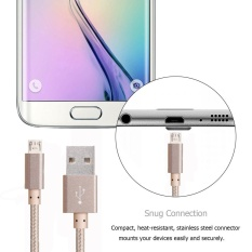 3M Braided Aluminum Micro USB Cable for Apple iPhone Image