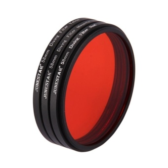 58mm Yellow + Red + Purple Diving Lens Filter For GoPro HERO5 -intl - 5