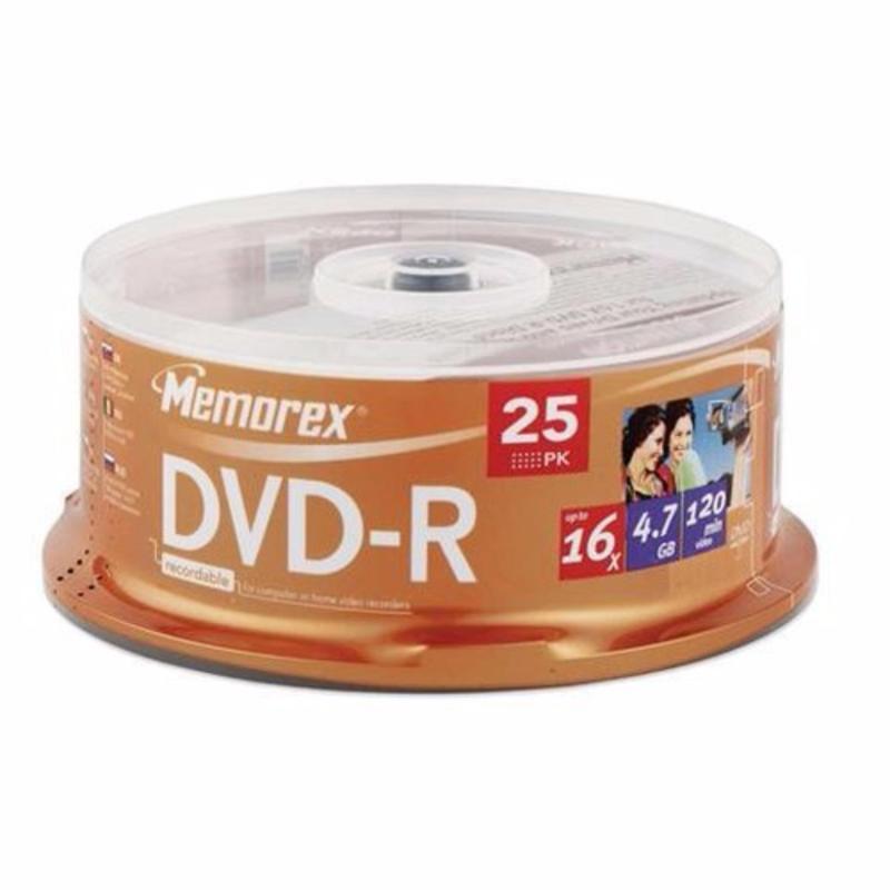 5Packed (50 pieces)Memorex DVD-R 4.7GB 120 Minutes Video Storage Up to 16x Write Speed(Brown)