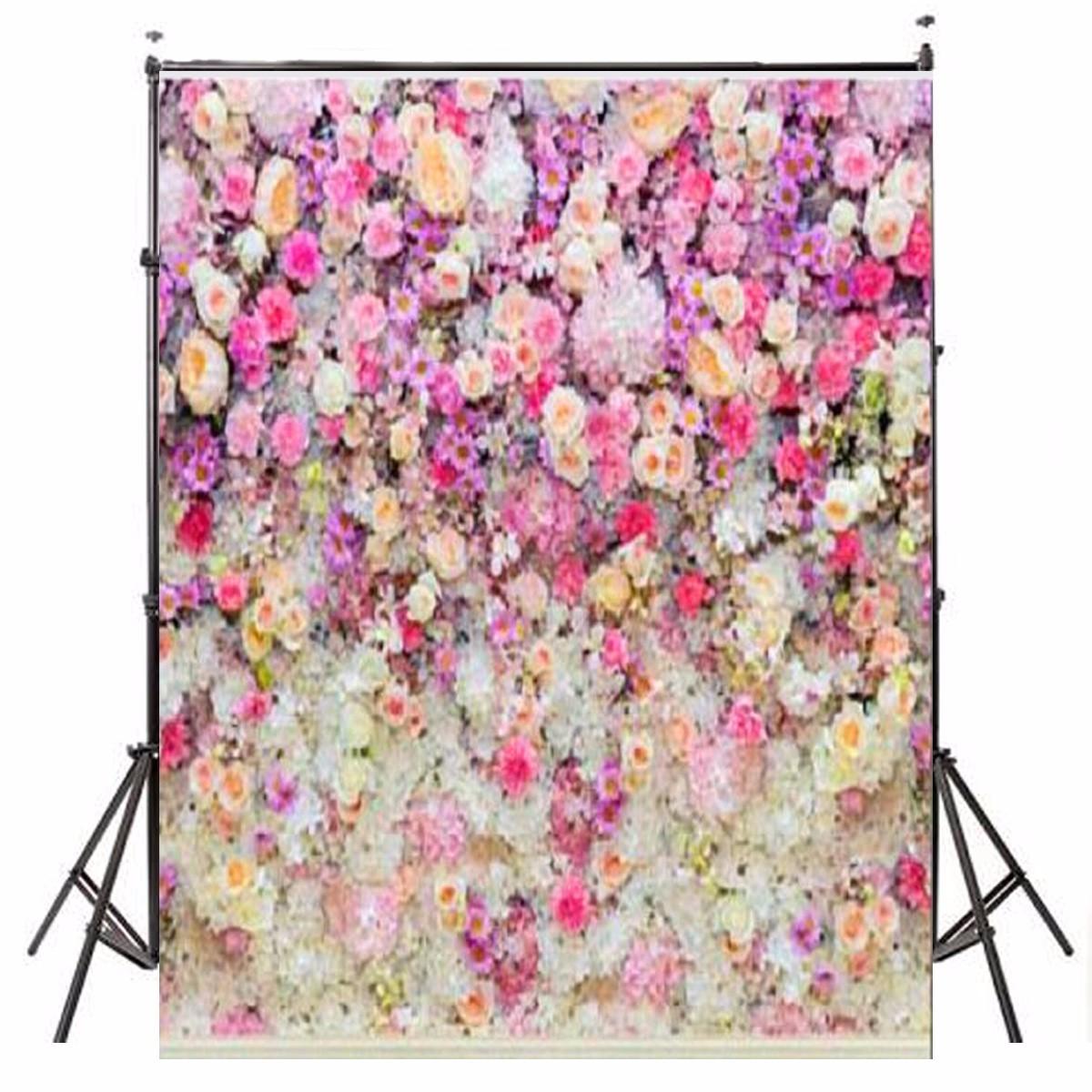 3x5ft flower wood wall vinyl background photography photo studio props - 5x7ft Flower Wall Wood Floor Backdrop Studio Props Vinyl